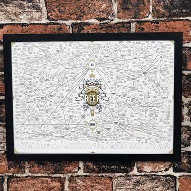 Quadro The magnificent multitude of beer - Linha CDB Designer - 33x45cm