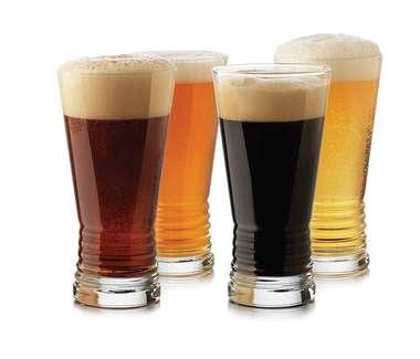 Jogo 4 Copos Cerveja Be Social Monclova - 495 Ml