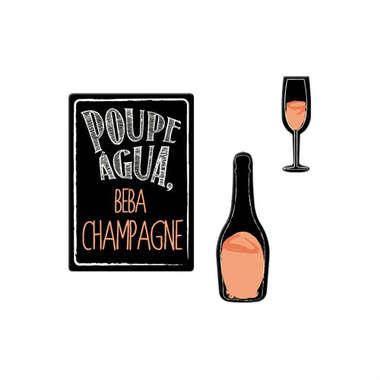 Jogo de imãs - Poupe Água Beba Champagne