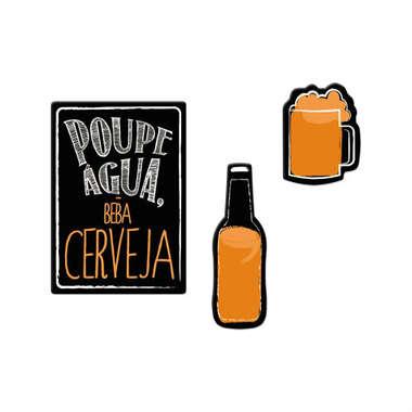 Jogo de imãs - Poupe Água Beba Cerveja