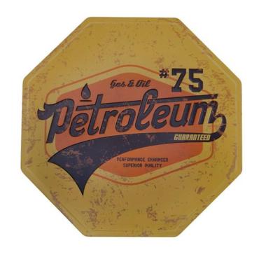 Placa Decorativa de Metal 30 x 30 cm - Gas & Oil