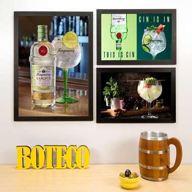 Kit Especial - 3 Quadros Gin Tanqueray - 45x33 e 33x22 cm