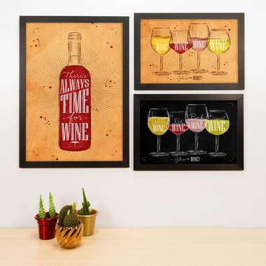 Kit Especial - 3 Quadros Wine - 45x33 e 33x22 cm