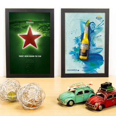 Kit Especial - Quadros Heineken + Corona - 33x22 cm