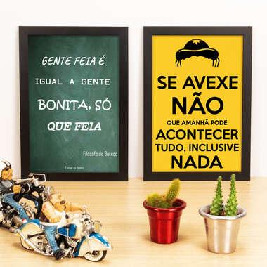 Kit Especial - Quadros Filosofia de Boteco + Se avexe não - 33x22 cm