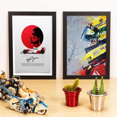 Kit Especial - Quadros Ídolo das Pistas + Ayrton Senna - 33x22 cm