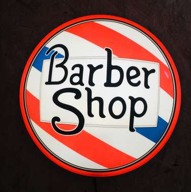 Luminoso Barber Red Bolha - 42 cm