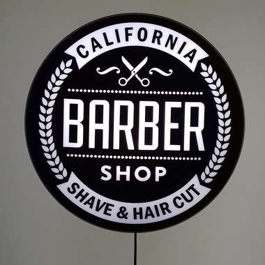 Luminoso Barber Shop Califórnia - 40 cm