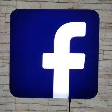 Luminoso Facebook - 40cm