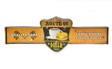 Luminoso a pilha - Route 66 Diner - LED