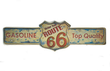 Luminoso a pilha Route 66 Led - Gasoline