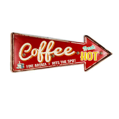 Luminoso a pilha - Coffe Fresh Hot - LED