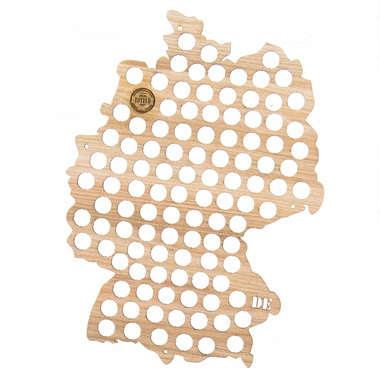 Mapa para coleção de tampinhas - Alemanha - 118 Tampinhas