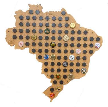 Mapa para coleção de tampinhas - Brasil - 100 Imãs
