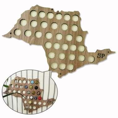 Mapa para coleção de tampinhas - São Paulo - 41 Tampinhas