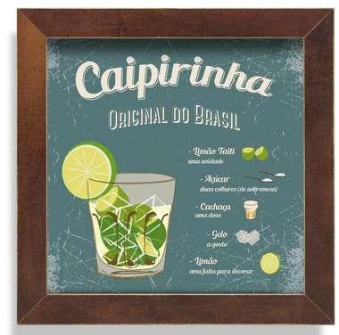 Quadro Metal Caipirinha  - 23 x 23 cm