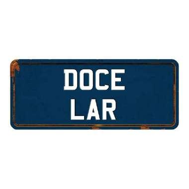Placa de carro MDF - Doce Lar
