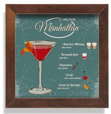 Quadro Metal Manhattan  - 23 x 23 cm