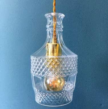 Pendente Vidro Transparente Lapidado 5695 - Mart Collection