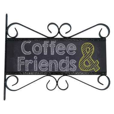 Flange Decorativa de Metal 28,5 x 32,5 cm - Coffee & Friends