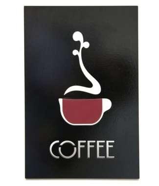 Placa Artesanal Laqueada - Drink Coffee