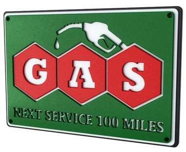Placa Decorativa MDF Pintura Laca - Gas