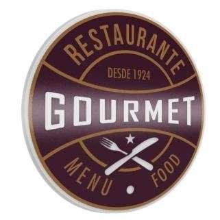 Placa Artesanal Laqueada - Gourmet Food