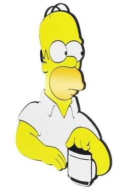 Placa Decorativa MDF Pintura Laca - Homer Simpson
