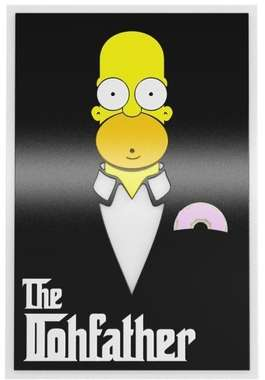 Placa Decorativa MDF Pintura Laca - Homer The Dohfather