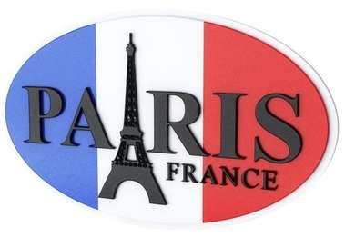 Placa Decorativa MDF Pintura Laca  - Paris
