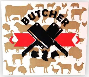Placa Artesanal Laqueada - The Butcher