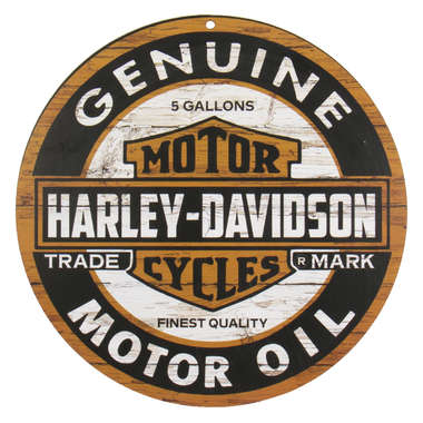 Placa Circular em MDF - Harley Davidson