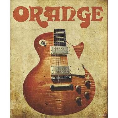 Placa Decorativa MDF - Orange