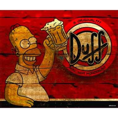 Placa Decorativa MDF - A Original Duff - 19x22 cm