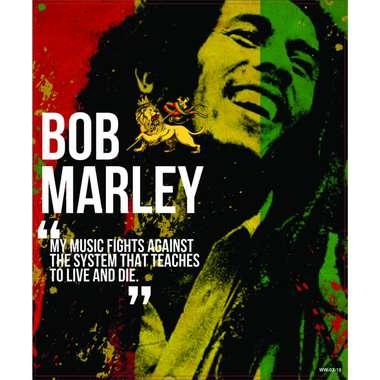 Placa Decorativa MDF - Bob Marley