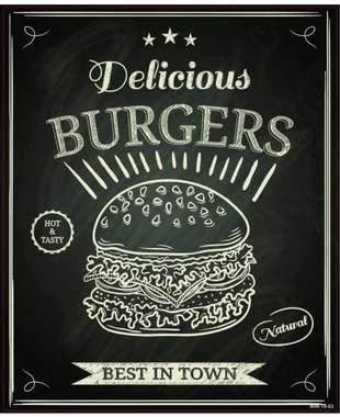 Placa Decorativa MDF - Burgers