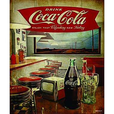Placa Decorativa MDF - Coca Retrô- 22x19 cm