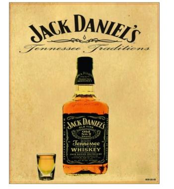Placa Decorativa MDF - Jack Traditions - 23x19 cm