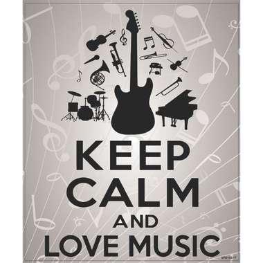 Placa Decorativa MDF - Love Music