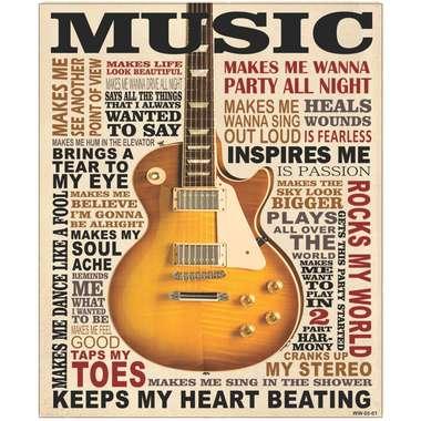 Placa Decorativa MDF - Music