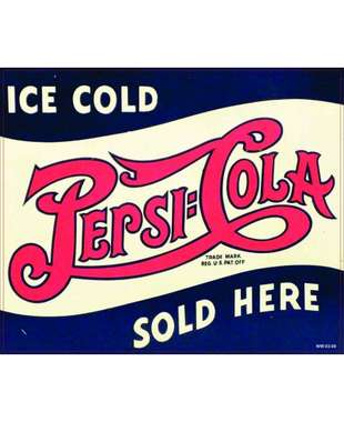 Placa Decorativa MDF - Pepsi Ice Cold Here- 18x22 cm