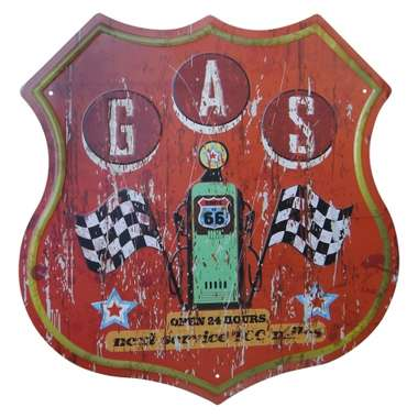 Placa Decorativa de Metal 30 x 30 cm - Gas