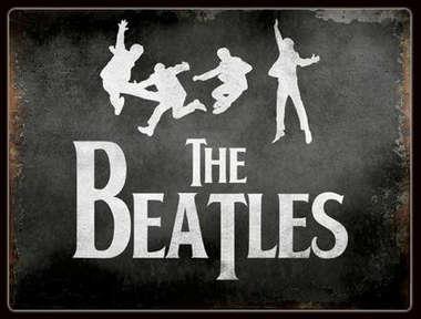 Placa Decorativa de Metal 30x20cm - Beatles Jump