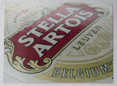 Placa Decorativa de Metal 30x20cm - Stella Artois DF