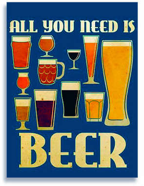 Placa Decorativa de Metal 30x40cm - All you need is Beer