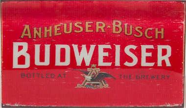 Placa Decorativa de Metal 30x40cm - Budweiser Primeiro Rótulo