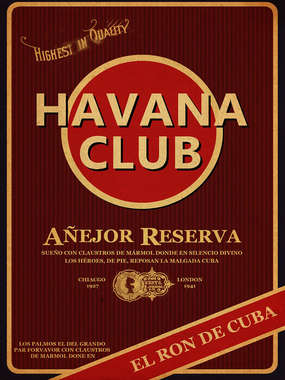 Placa Decorativa de Metal 30x40cm - Havana Club