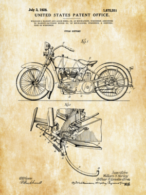 Placa Decorativa de Metal 30x40cm - Patente Cycle Support