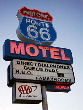 Placa Decorativa de Metal 30x40cm - Route 66 MOTEL