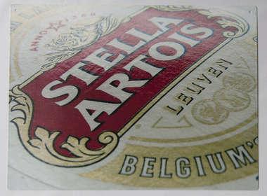 Placa Decorativa de Metal 30x40cm - Stella Artois DF